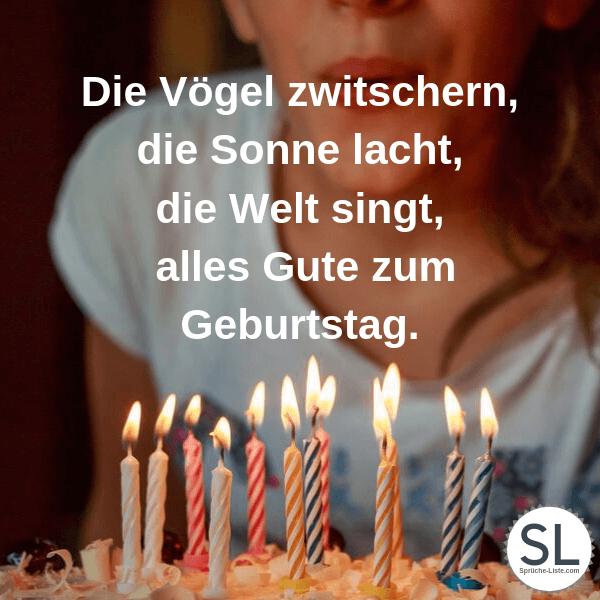 Die Vögel zwitschern, die Sonne lacht, die Welt singt, alles Gute zum Geburtstag - Geburtstagsbilder