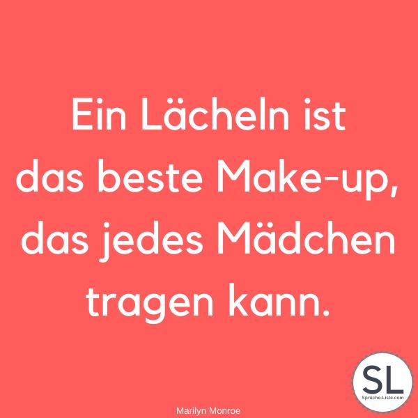 Ein Lächeln ist das beste Make-up, das jedes Mädchen tragen kann von Marilyn Monroe - Lächeln Sprüche