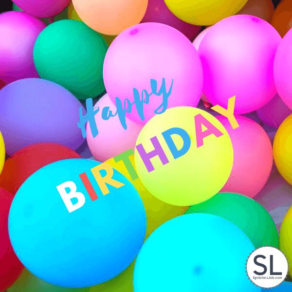 Happy Birthday Ballons - Geburtstagsbilder