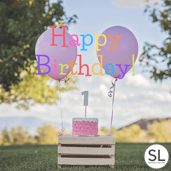 Torte mit Ballons - Geburtstagsbilder