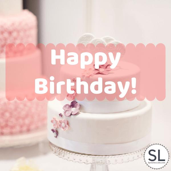 Torte mit Blüten - Geburtstagsbilder